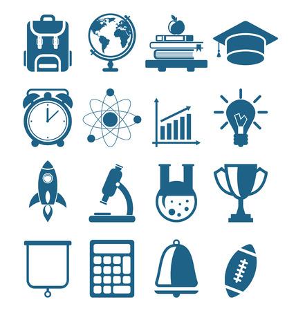 educacion universitaria: De secundaria y universitarios Iconos de la educaci�n m�nimos