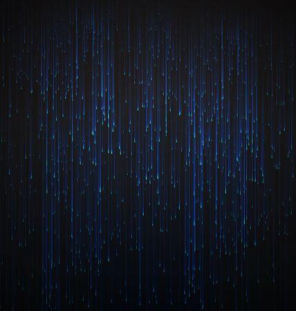 fibra ottica: Abstract Background in fibra ottica Trace Blu segnale Vettoriali