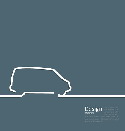 Laconic Design of Velocity Vehicle Illustration