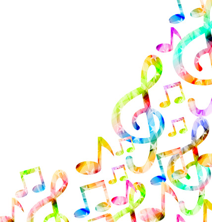 clefs: Music Background with Treble Clefs and Notes Illustration