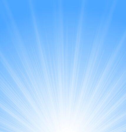 sunburst: Illustration Abstract Blue Background Sun Sunburst Vibrant