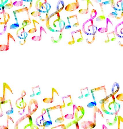 rainbow music: Illustration Rainbow Music Background with Copy Space for Text Stock Photo