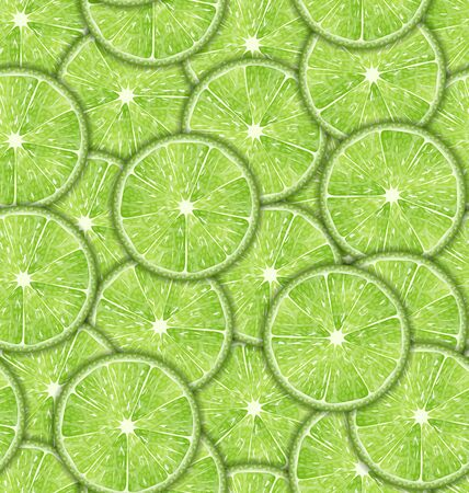 repetition: Illustration Seamless Pattern Slices of Lime, Repetition Background