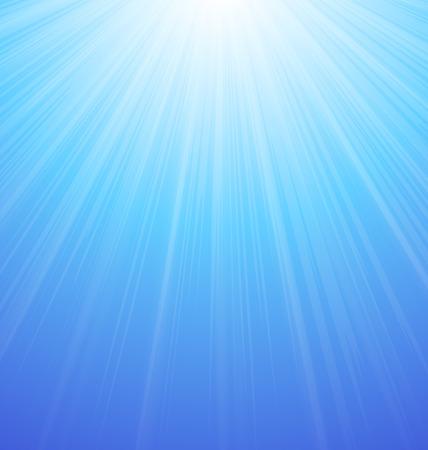 Illustration Abstract Blue Sky Background Sun Sunburst Vibrant - vector Illustration