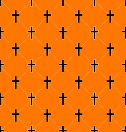 墓 - ベクトルの十字の図抽象的なシームレスなテクスチャ  イラスト・ベクター素材
