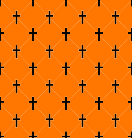 Illustration Abstract Seamless Texture with Crosses of Graves - Vector Illustration