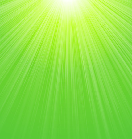Abstract Green Sunny Sunbeam Background - vector