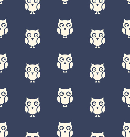 31th: Illustration Seamless Pattern with Bird Owl for Halloween - Vector