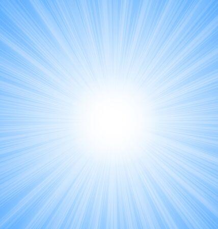 Illustration Abstract Blue Sky Background Sun Rays shine vibrant - vector Ilustração