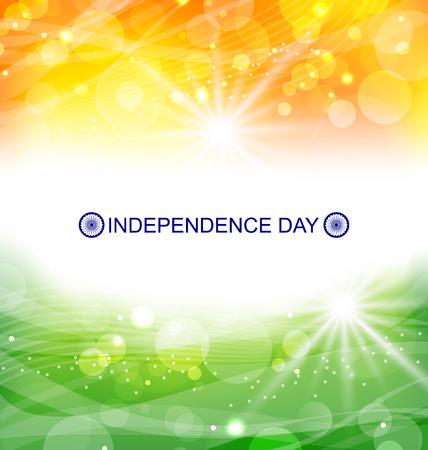 bandera blanca: Ilustraci�n abstracta del fondo por un indio D�a de la Independencia - Vector