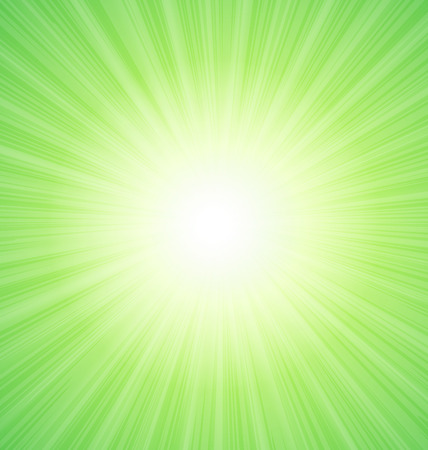 sunbeams: Abstract Green Sunshine Sunbeam Background - vector