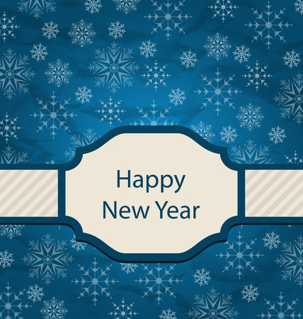 artboard: Illustration Congratulation Card for Happy New Year - raster Stock Photo