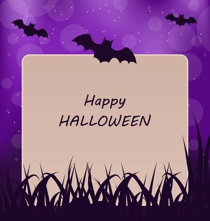 greeting card background: Illustration Halloween Greeting Card, Dark Background - raster Stock Photo
