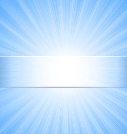 sunbeam: Abstract Blue Sky Sunbeam Background with Place for Text - raster