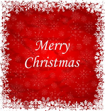 weihnachten: Illustration Christmas Frame Made of Snowflakes - raster