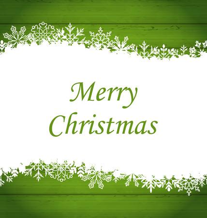 raster: Illustration Christmas Frame Made of Snowflakes - raster