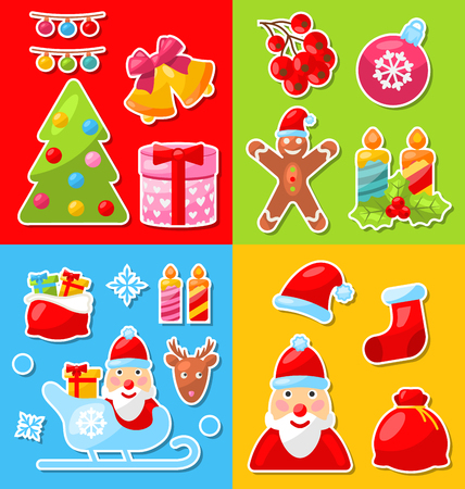 sorb: Illustration Christmas and Winter Celebration Traditional Elements and Objects - Vector