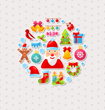 sorb: Illustration New Year Traditional Colorful Elements - Vector Illustration