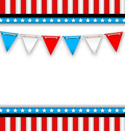 Resumen de antecedentes para las fiestas nacionales de Estados Unidos. Plantilla Celebration Card, Invitation, Poster - Vector