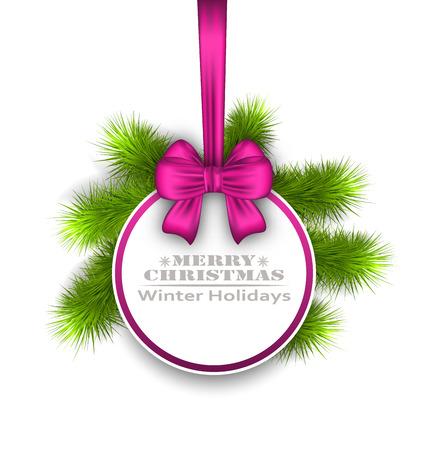 felicitation: Illustration Celebration Card with Bow Ribbon, Best Wishes - Vector Illustration