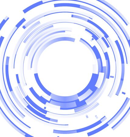 blended: Abstract blue background frame blended elements striped transparency cut from circles - vector