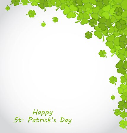 patricks day: Illustration Greeting Background with Clovers for St. Patricks Day - Vector