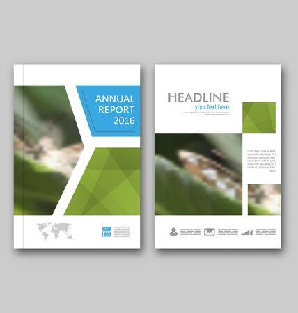 magazine design: Illustration Brochure Template Layout, Cover Design Annual Report, Design of Magazine or Newspaper, Flyer - Vector Illustration
