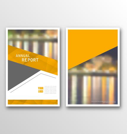 magazine design: Illustration Brochure Template Layout, Cover Design Annual Report, Design of Magazine or Newspaper - Vector Illustration