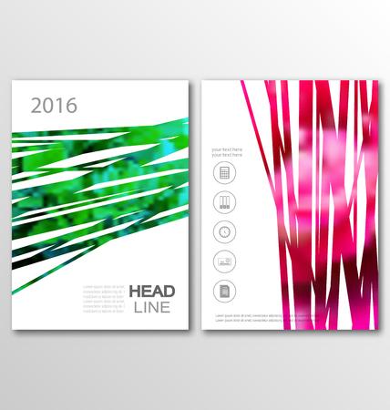 Illustration Broschüre Flyer Vorlage A4 Größe aktuellen Design, der Buchgestaltung, Abstrakt Präsentationsvorlagen - Vector Vektorgrafik