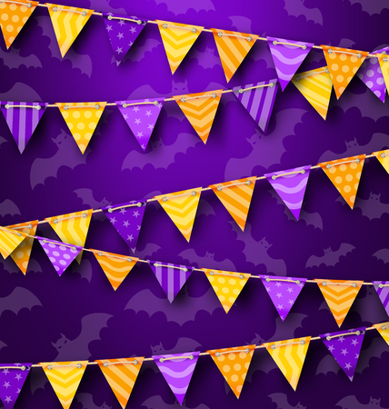 31th: Illustration Colorful Hanging Bunting for Holiday Party, Cute Decoration -