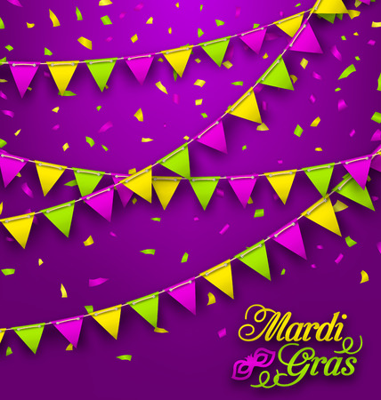 parade: Bunting Background for Mardi Gras