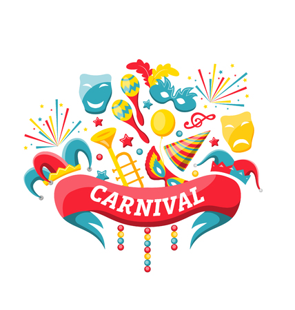 Celebration Festive Banner for Happy Carnival