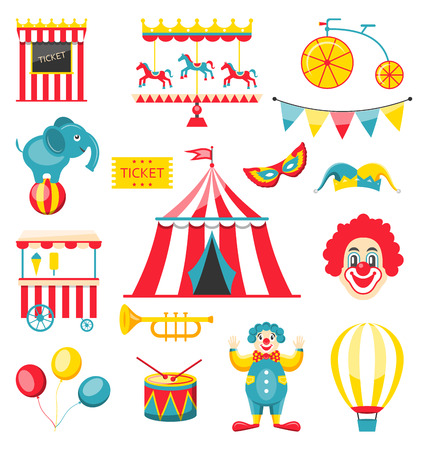 Collection Colorful Elements for Circus and Carnival