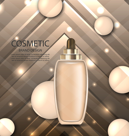 corrective: Glossy Cosmetic Bottle with Foundation Stock Photo