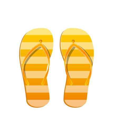 Pair Flip Flops Isolated on White Background