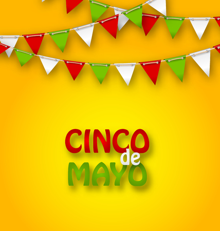 Cinco De Mayo Holiday Bunting Background Illustration