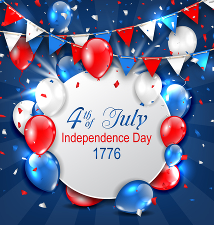 Greeting Card for American Independence Day Illustration