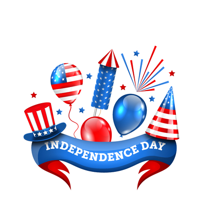 pyrotechnic: American Decoration for Independence Day, Traditional Symbols and Objects