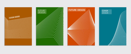 Minimal covers design. Cool halftone gradients. Future Poster template.