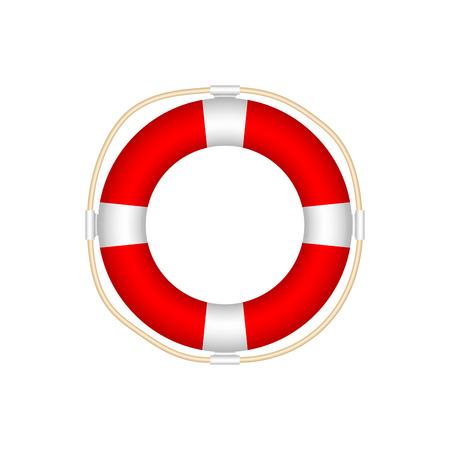 Lifebuoy Icon Isolated on White Background. Realistic Style