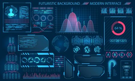 Futuristic Interface HUD Design 일러스트