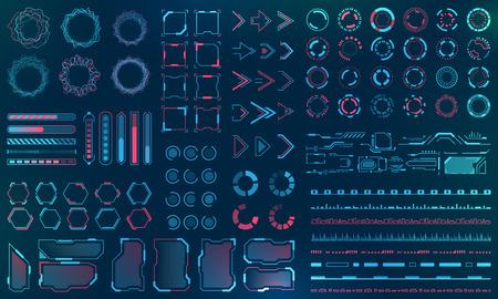Définir les éléments de l'interface HUD - Lignes, cercles, pointeurs, cadres, téléchargement de barres pour les applications Web