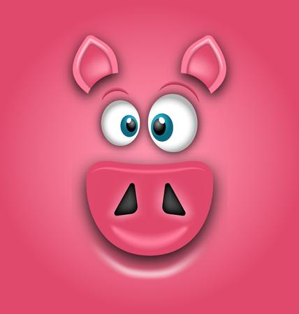 Chinese Zodiac Sign Year of Pig, Happy Chinese New Year 2019 Ilustracja