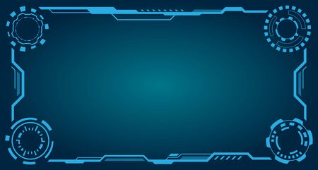 HUD Futuristic Frame. Abstract Technology Panel - Illustration Vector