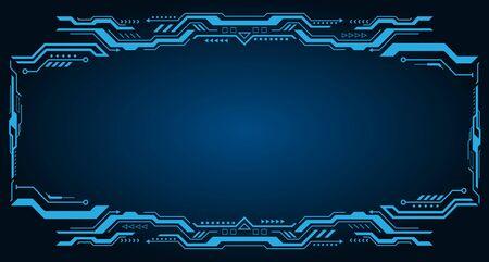 Technology Futuristic Frame. Virtual Panel, Dashboard - Illustration Vector