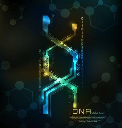 Estructura de ADN abstracta. Fondo de ciencia médica, espiral genética Foto de archivo