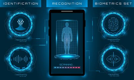 Biometric Identification Personality, Scanning Modern Access Control Reklamní fotografie
