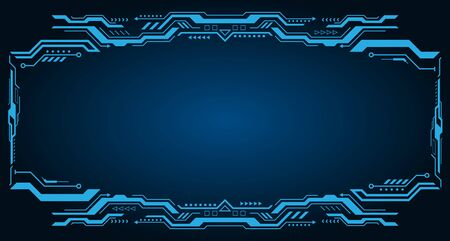 Technology Futuristic Frame. Virtual Panel, Dashboard - Illustration