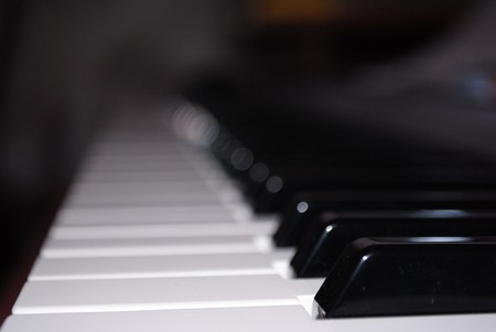 chorale: Soft piano in sunset the close up Stock Photo