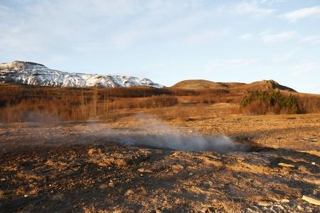 evaporarse: Strokkur �rea geot�rmica